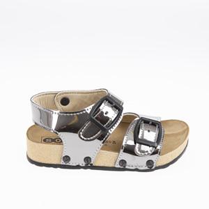 Kız Çocuk Çift Bantlı Sandalet Platin (24-33 numara)