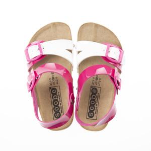 Kız Çocuk Çift Bantlı Sandalet Fuşya (24-33 numara)