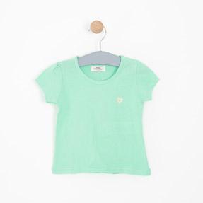 Kız Çocuk Kısa Kol Tişört Yeşil (3-12 yaş)