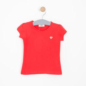 Kız Çocuk Kısa Kol Tişört Kırmızı (3-12 yaş)