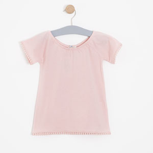 Kız Çocuk Kısa Kol Tişört Pembe (3-12 yaş)
