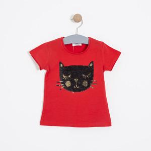 Kız Çocuk Kısa Kol Tişört Kırmızı (3-7 yaş)