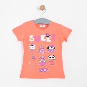 Kız Çocuk Kısa Kol Tişört Mint (3-7 yaş)