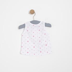Kız Bebek Kolsuz Tişört Beyaz (0-2 yaş)