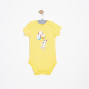 Kız Bebek Kısa Kol Badi Sarı (0-2 yaş)