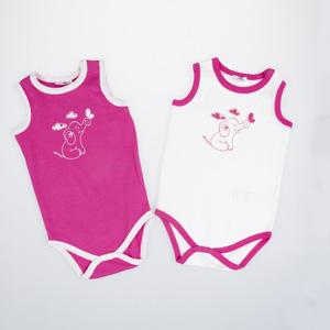Kız Bebek Kısa Kol Badi Set Bordo (0-2 yaş)