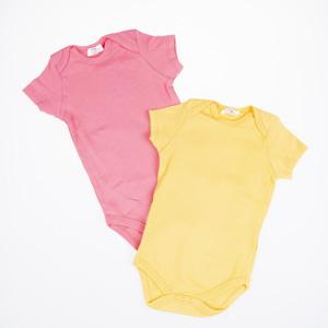 Kız Bebek Kısa Kol Badi Set Pembe (0-2 yaş)