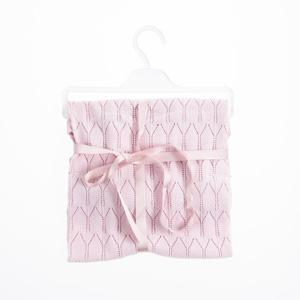 Kız Bebek Merserize İnce Battaniye Pembe (0-2 yaş)