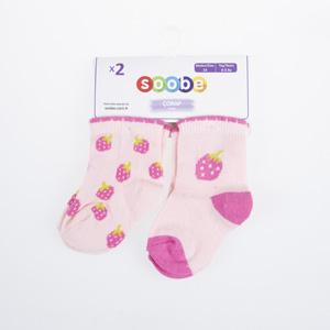 Kız Bebek İkili Çorap Fuşya (14-22 numara)