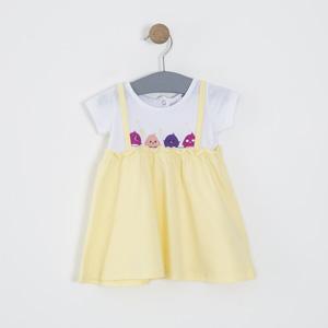 Kız Bebek Elbise Sarı (0-2 yaş)