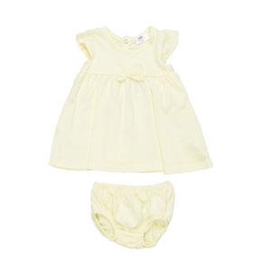 Kız Bebek Elbise Set Sarı (0-2 yaş)
