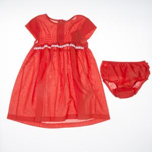 Kız Çocuk Kısa Kol Elbise Kırmızı (0-2 yaş)