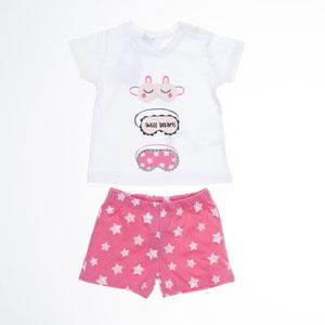 Kız Bebek Pijama Takımı Pembe (0-2 yaş)