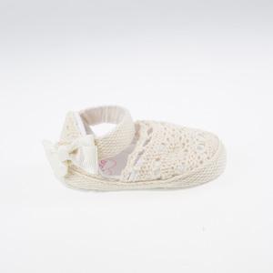Kız Bebek Kutulu Patik Krem (17-19 numara)