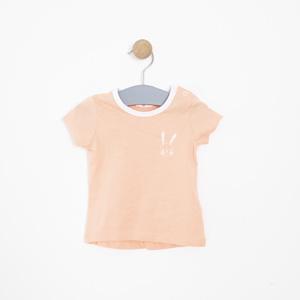 Kız Bebek Tişört Somon (0-2 yaş)