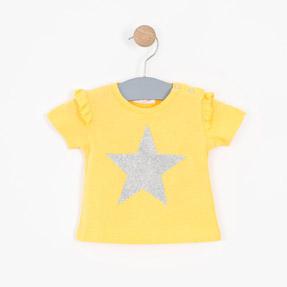 Kız Bebek Kısa Kollu Tişört Sarı (0-2 yaş)