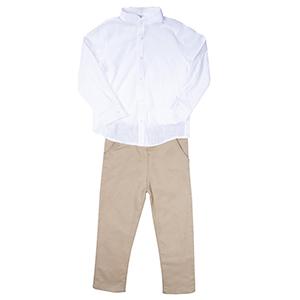 Erkek Çocuk Gömlek Pantolon Takım Bej (3-7 yaş)