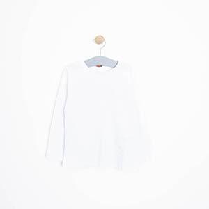 Erkek Çocuk Uzun Kol Tişört Beyaz (3-12 Yaş)