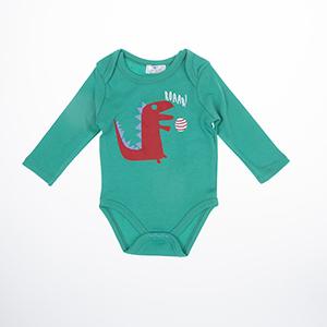 Erkek Bebek Uzun Kol Badi Yeşil (3-15 ay)