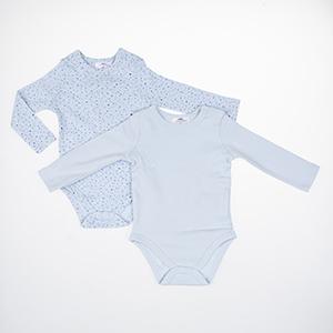 Erkek Bebek Uzun Kol Badi Set Mavi (3-15 ay)