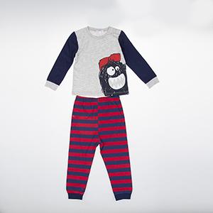 Erkek Bebek Pijama Takımı Gri Melanj (9-24 ay)