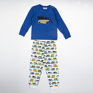 Erkek Bebek Pijama Takımı Saks (9-24 ay)