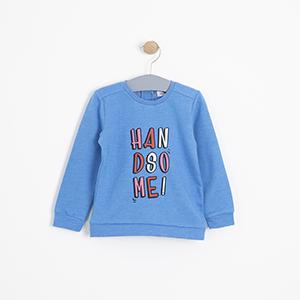 Erkek Bebek Sweatshirt İndigo (3-15 ay)
