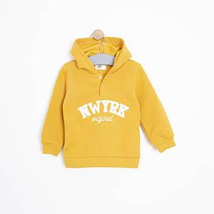 Erkek Bebek Sweatshirt Sarı (9-24 ay)