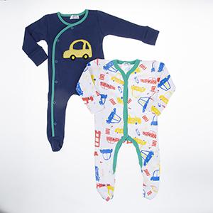 Erkek Bebek Tulum Set Saks (3-15 ay)