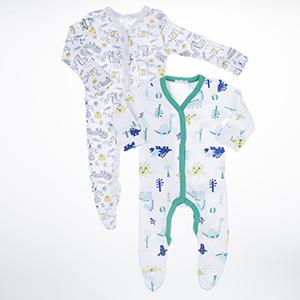 Erkek Bebek Tulum Set Beyaz (3-15 ay)