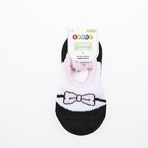 Kız Çocuk Bantlı Patik Çorap Siyah (19-34 numara)