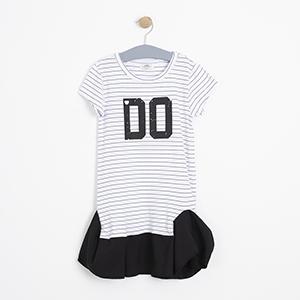 Kız Çocuk Elbise Kırık Beyaz (8-12 Yaş)