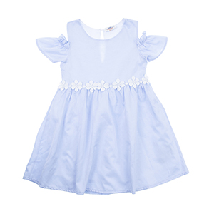 Kız Çocuk Elbise Mavi (3-7 yaş)