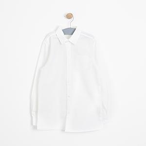 Kız Çocuk Uzun Kol Gömlek Kırık Beyaz (3-12 yaş)