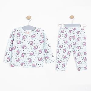 Kız Bebek Pijama Takımı Nane (12-24 ay)