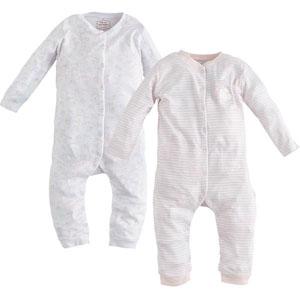 Kız Bebek İkili Tulum Set Pembe (0-24 ay)