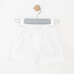 Kız Bebek Şort Beyaz (68 cm-2 yaş)