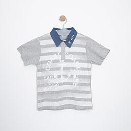 Erkek Çocuk Tişört Gri Melanj (8-12 yaş)