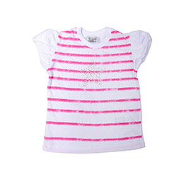 Kız Çocuk Tişört Neon Pembe (3-7 yaş)