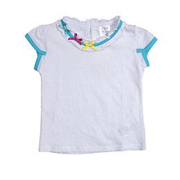 Kız Çocuk Kısa Kol Tişört Beyaz (74 cm-3 yaş)