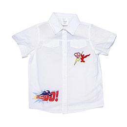 Disney Super Adventure Kısa Kol Erkek Çocuk Gömlek Beyaz (2-7 yaş)