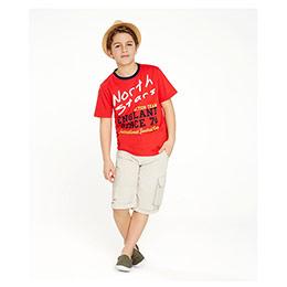Erkek Çocuk Tişört Açık Kırmızı (7-12 yaş)