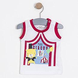 Erkek Bebek Kolsuz Tişört Vişne (56-92 cm)