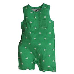 Erkek Bebek Kolsuz Tulum Yeşil (56-92 cm)