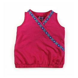 Etnik Kız Çocuk Kolsuz Bluz Fuşya (74 cm-7 yaş)