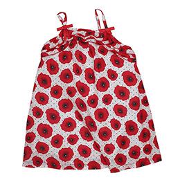 Kız Çocuk Askılı Elbise Kırmızı (74 cm-7 yaş)