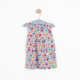 Kız Çocuk Elbise Baskılı (74 cm-7 yaş)