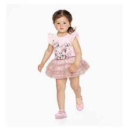 Kız Çocuk Etek Toz Pembe (74 cm-7 yaş)