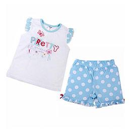 Kız Çocuk Pijama Takımı Açık Turkuaz (74 cm-7 yaş)