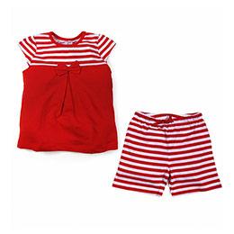 Kız Çocuk Pijama Takımı Açık Kırmızı (74 cm-5 yaş)